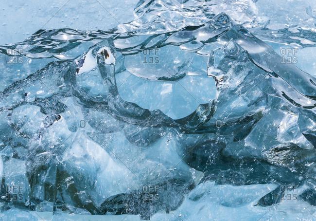 Aerial view of Alaska's glacial coast