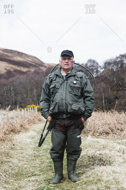 Bettyhill, Scotland - April 22, 2017: Portrait of a fisherman near Bettyhill, Scotland
