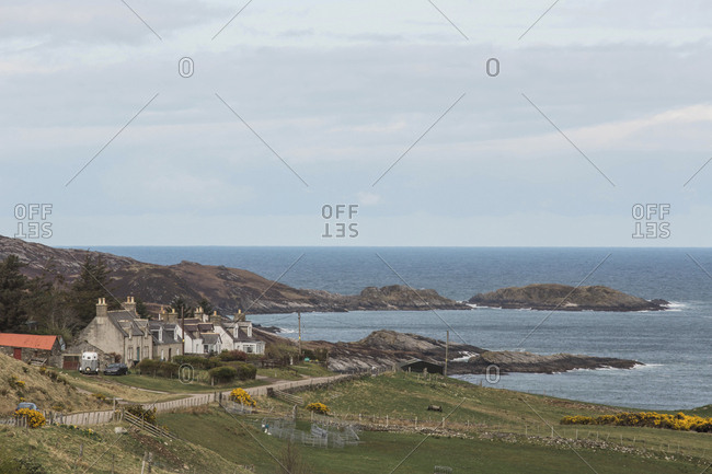 A quaint village overlooking the ocean on the northern end of Scotland