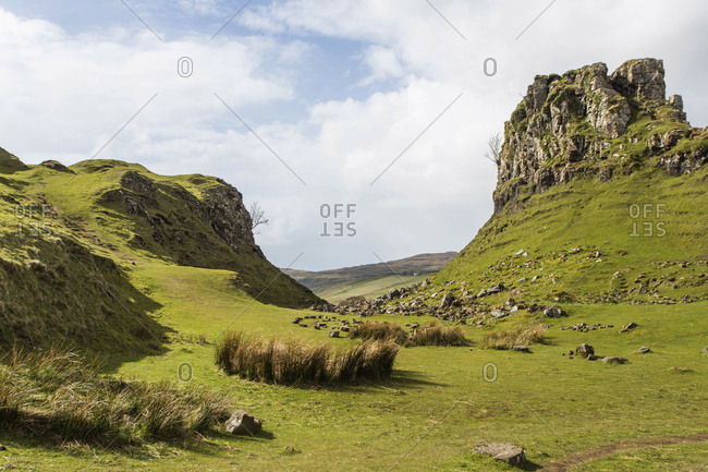 Fairy Glen is a popular tourist destination on the northern side of the Isle of Skye, Scotland