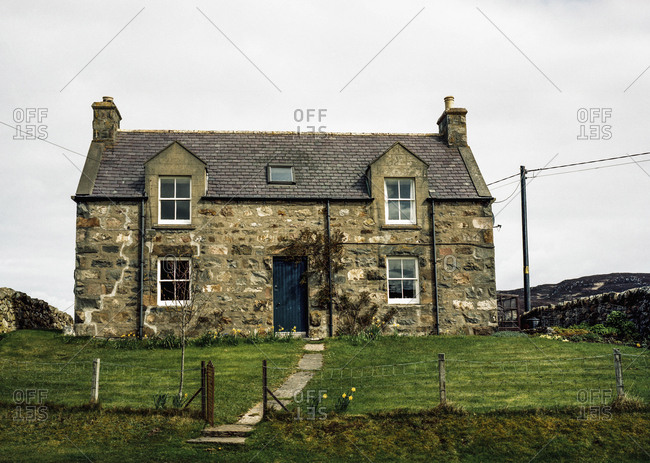 An old historic home near the village of Bettyhill, Scotland