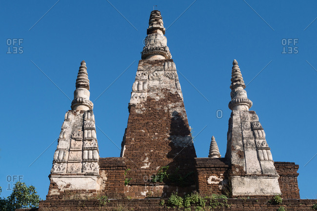 Spires on the roof of the Wat Chet Yot in Chiang Mai, Thailand
