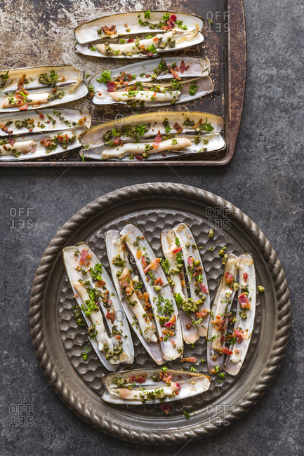 Baked Razor Clams