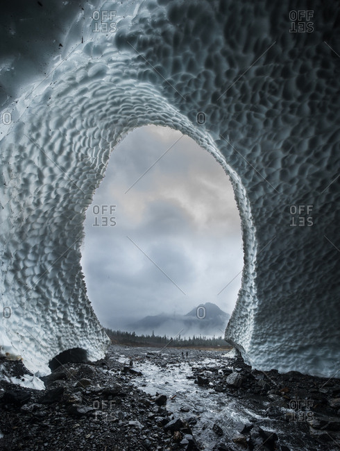 Scenic view of ice cave at North Cascades National Park