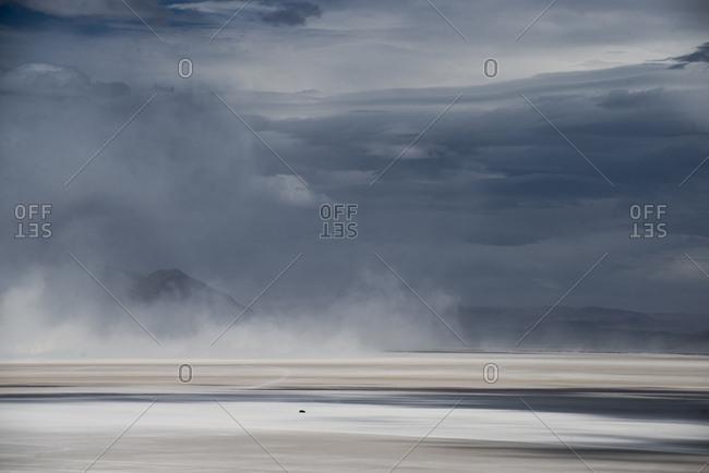 Alvord Desert during storm