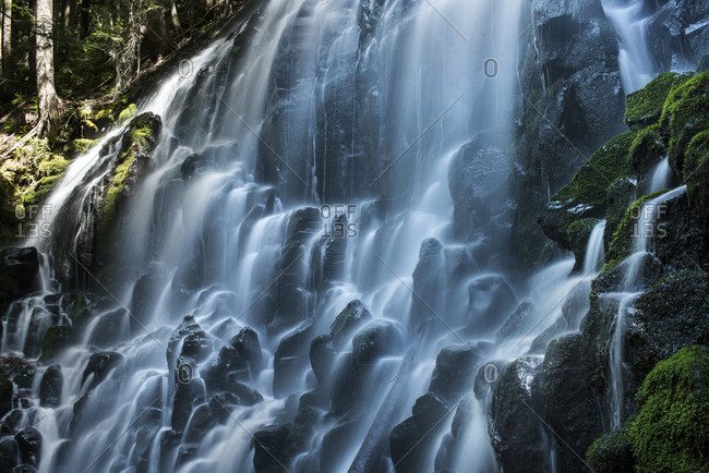 Long exposure of Ramona Falls at mount hood national forest