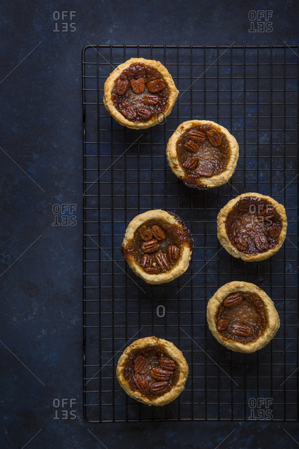 Overhead of pecan butter tarts