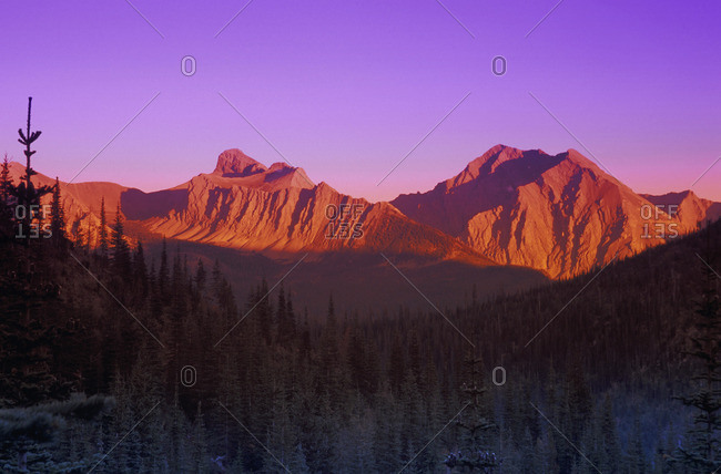 Mountain at sunset