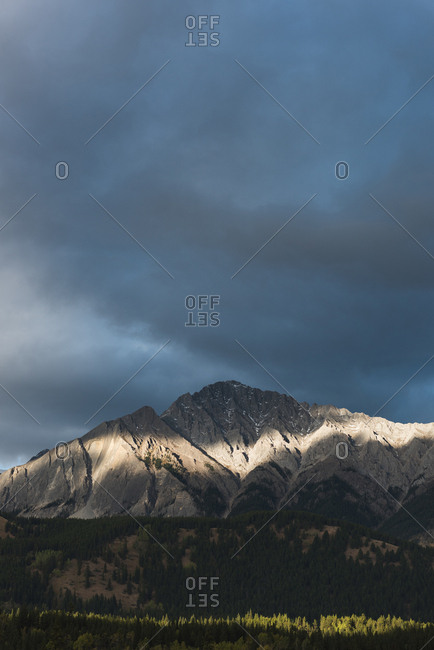 Dark clouds over the beautiful mountain