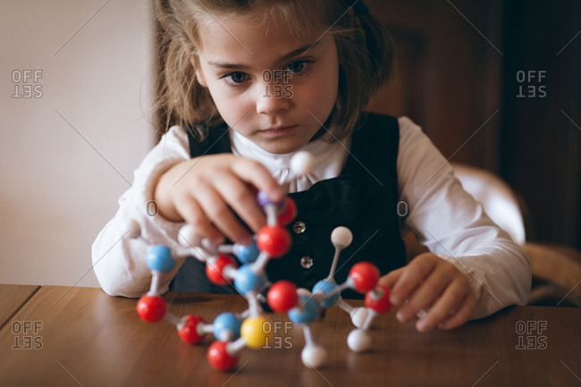 Girl experimenting with molecule