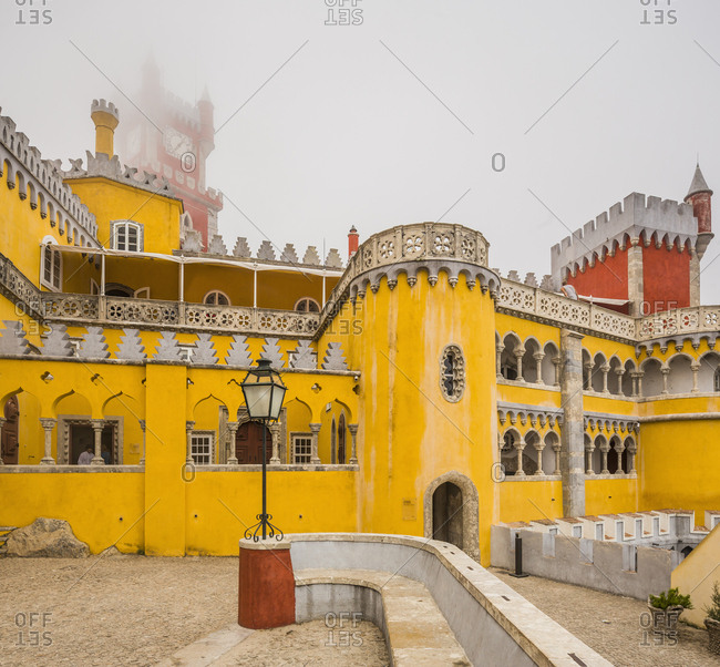 July 26, 2016: Portugal, Lisbon, Sintra . The Palacio Nacional (National Palace) da Pena or Castelo da Pena