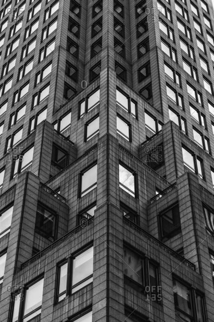 New York City, New York - September 10, 2016: Exterior of office building on Madison Avenue in Manhattan
