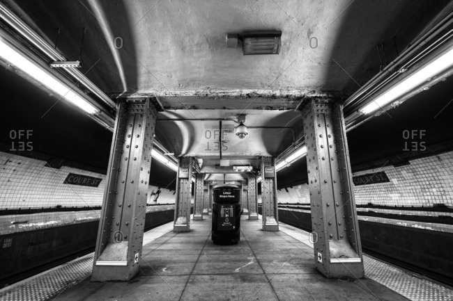 New York City, New York - October 6, 2016: Court Street-Borough Hall underground subway station complex