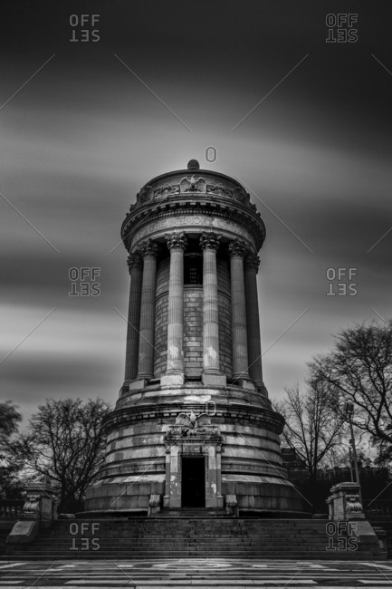 New York City, New York - December 1, 2016: The Soldiers' and Sailors' Memorial Monument in Riverside Park in the Upper West Side of Manhattan, New York City