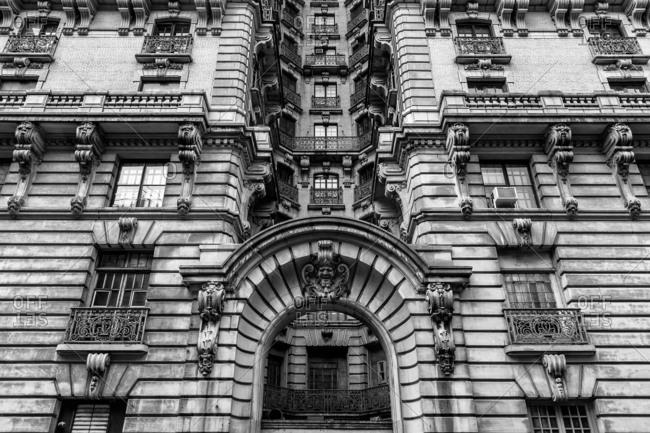 New York City, New York - December 29, 2016: Ansonia Condominiums exterior