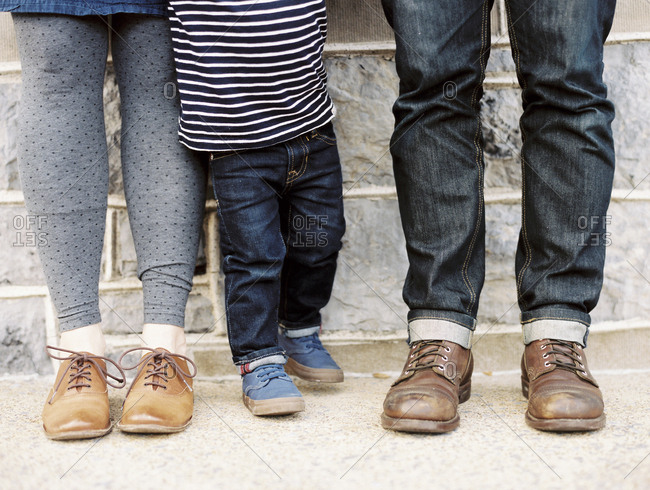 Quirky portrait of family feet