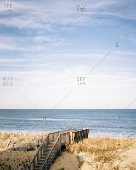 Dock steps on beach