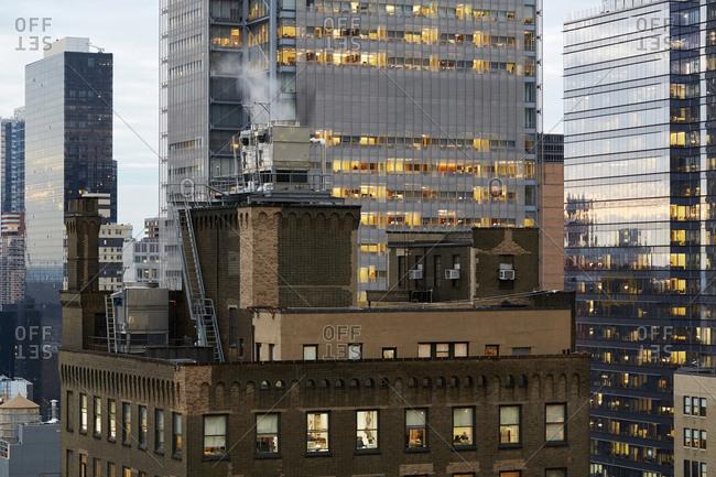 USA, New York, New York City - November 14, 2017: USA, New York, New York City, Modern skyscrapers