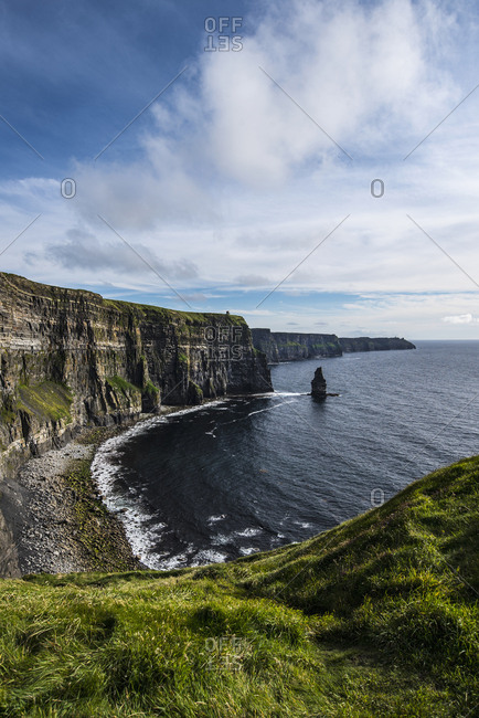 Ireland, Clare County, Landscape of Cliffs of Moher