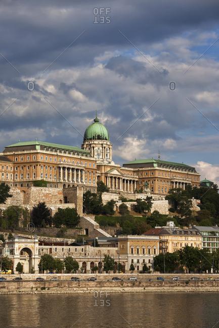 Hungary- Budapest- Buda Castle at Danube River