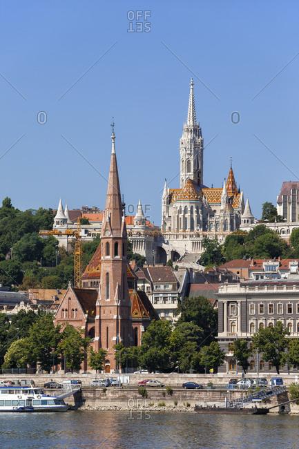 Hungary- Budapest- Buda Calvinist Church and Matthias Church