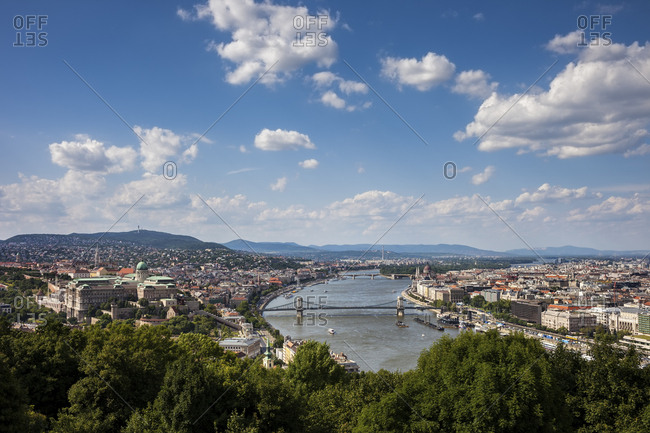 Hungary- Budapest- cityscape from above