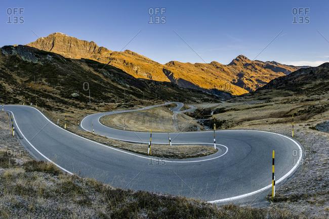 Switzerland- Canton of Graubuenden- Swiss Alps- San Bernardino Pass- Passo del San Bernardino