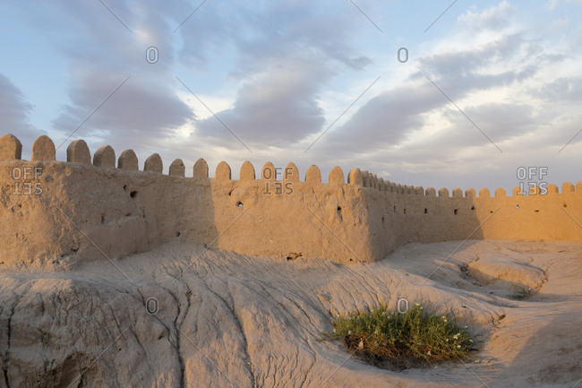Long stone wall