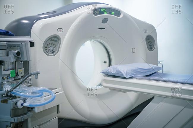 Scanner at hospital