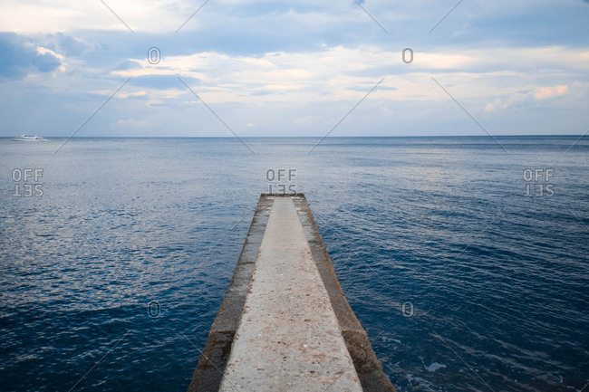 Empty pier, Crimean peninsula
