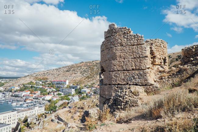 Stone ruins in Sevastopol, Crimean peninsula