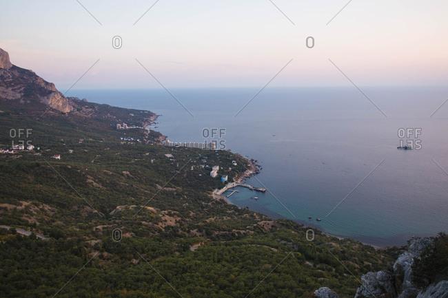 Crimean peninsula seascape and city