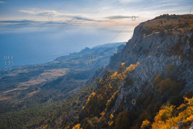 Cliffs on the Crimean peninsula
