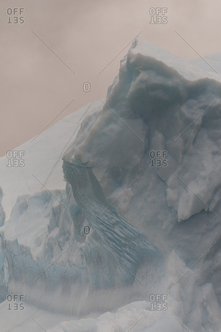 Iceberg abstract in Scoresby Sound, Greenland