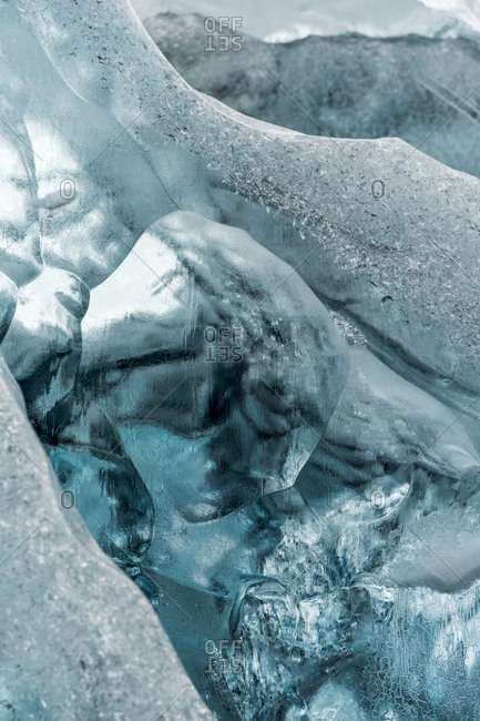 Iceberg abstract in Scoresby Sound in Greenland