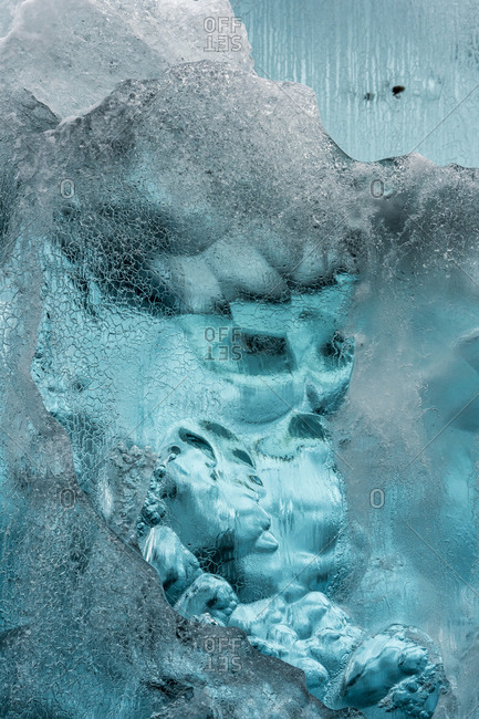 Beautiful ice formations in Scoresby Sound in Greenland