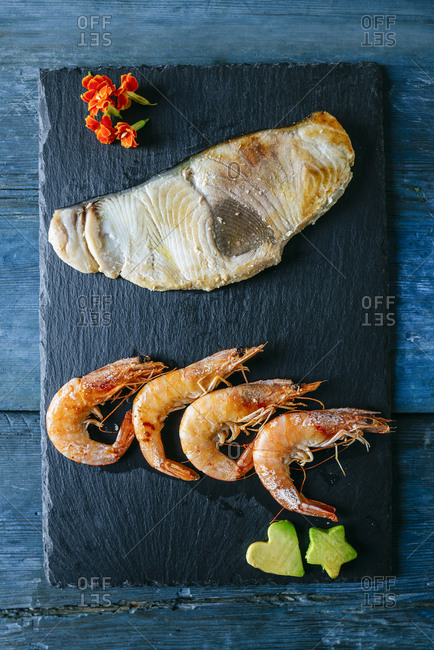 Stylish plated seafood presentation