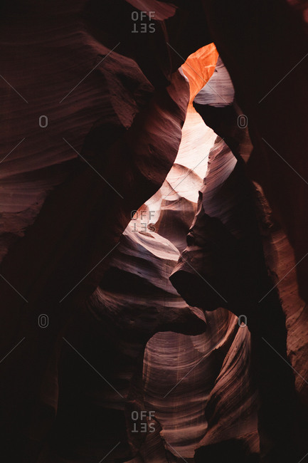 Low angle view of Antelope canyon