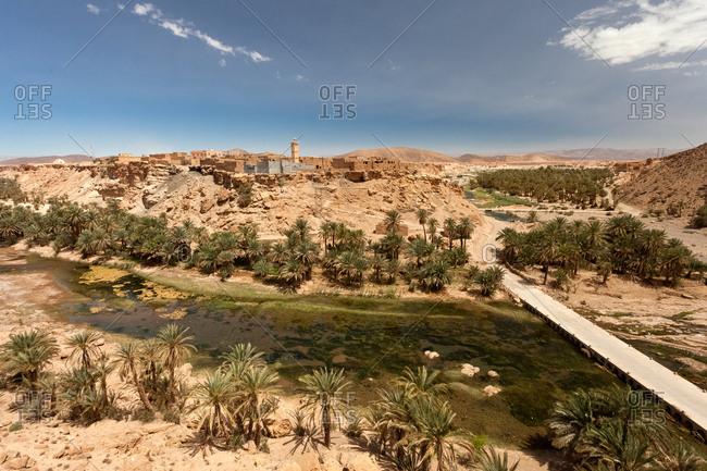 Village in oasis, Morocco, Al-Maghreb