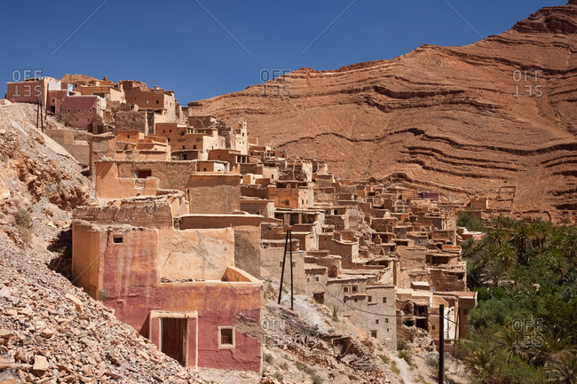 Village in Atlas mountains, Morocco, Al-Maghreb
