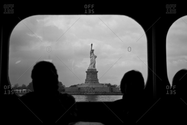 Statue of Liberty viewed from a ferry