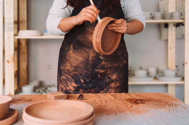 Artisan demonstration of pottery process