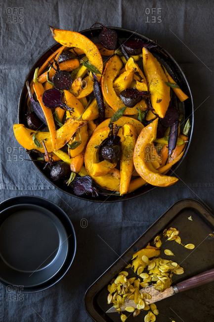 Kuri pumpkin winter salad