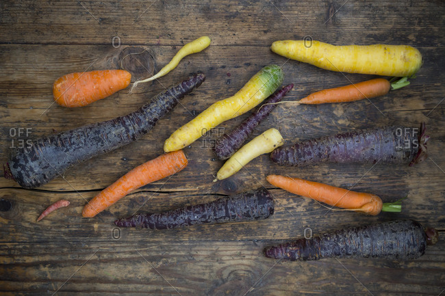 Winter vegetables- carrot- beetroot and parsnip