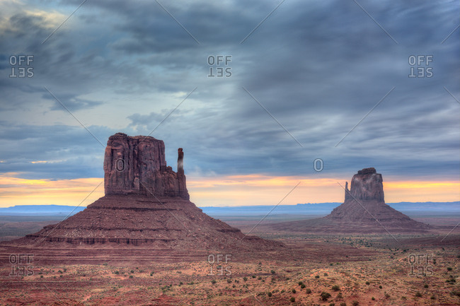 Monument Valley at twilight