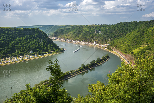 Germany- Rhineland-Palatinate- Upper Middle Rhine Valley- View of Kaub
