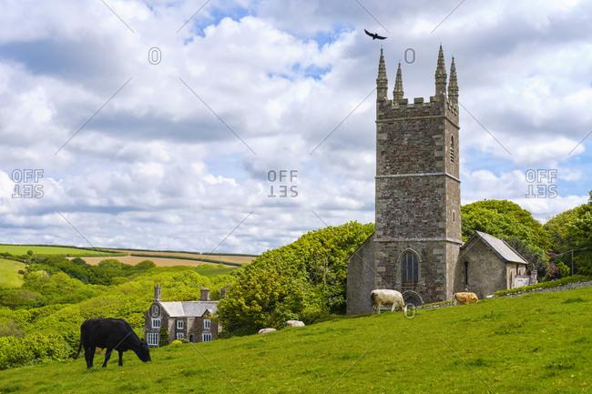 Great Britain- England- Cornwall- near Bude- Church of St Morwenna near Morwenstow