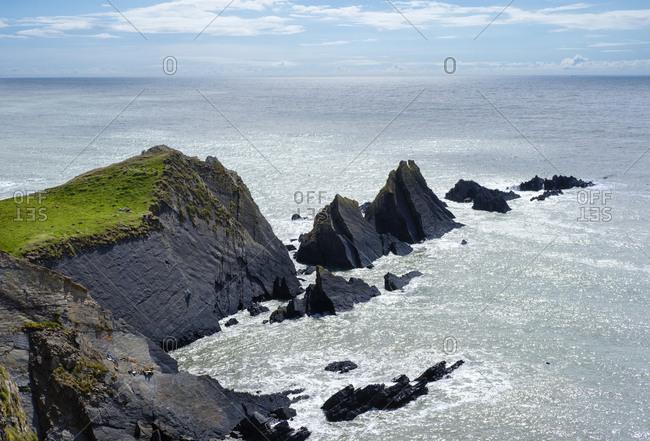 Great Britain- England- Devon- Hartland- Hartland Quay- Rocky coast- Screda Point