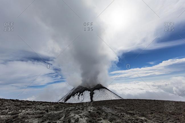 Italy- Sicily- Mount Etna summit