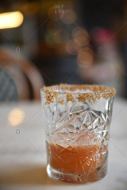 Cocktail served in tumbler